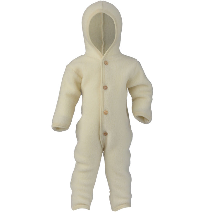 ENGEL Organic Merino Wool Fleece Suit - Natural