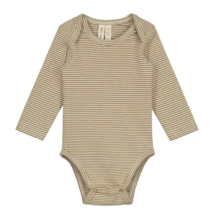 Gray Label Baby L/S Onesie - Peanut/Cream