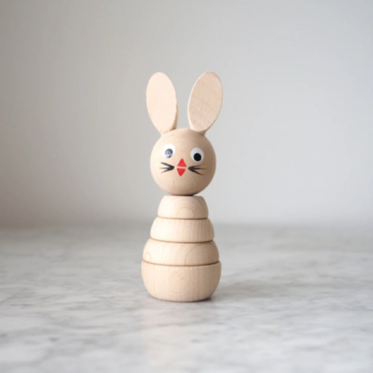 Henrietta - Wooden Rabbit Stacking Toy