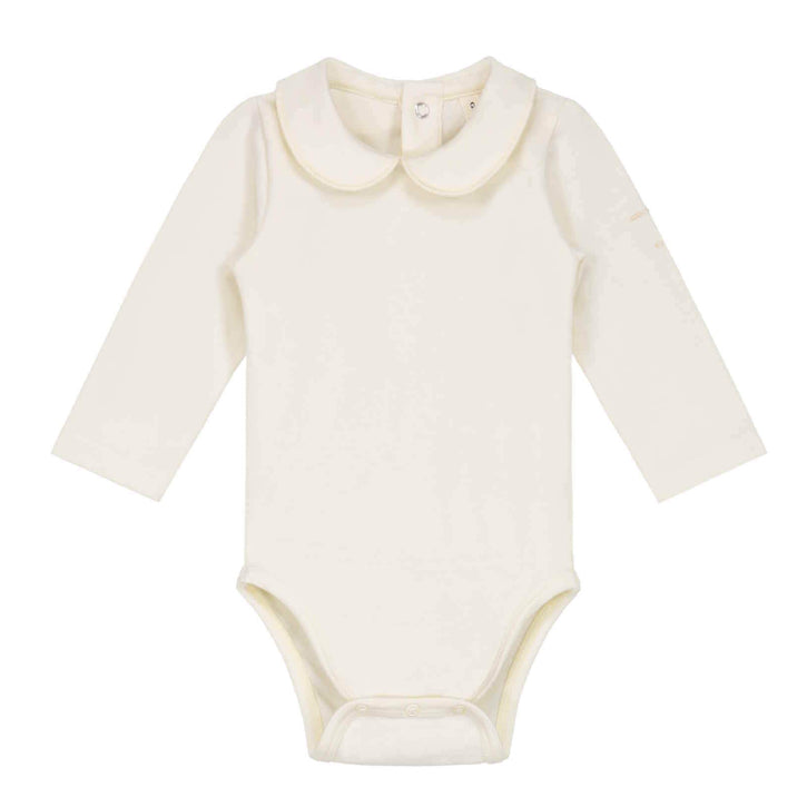 Gray Label Baby Collar Onesie - Cream