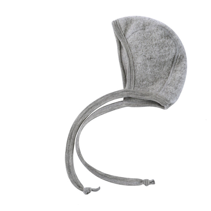 ENGEL Organic Merino Wool Baby Bonnet - Light Grey Mélange