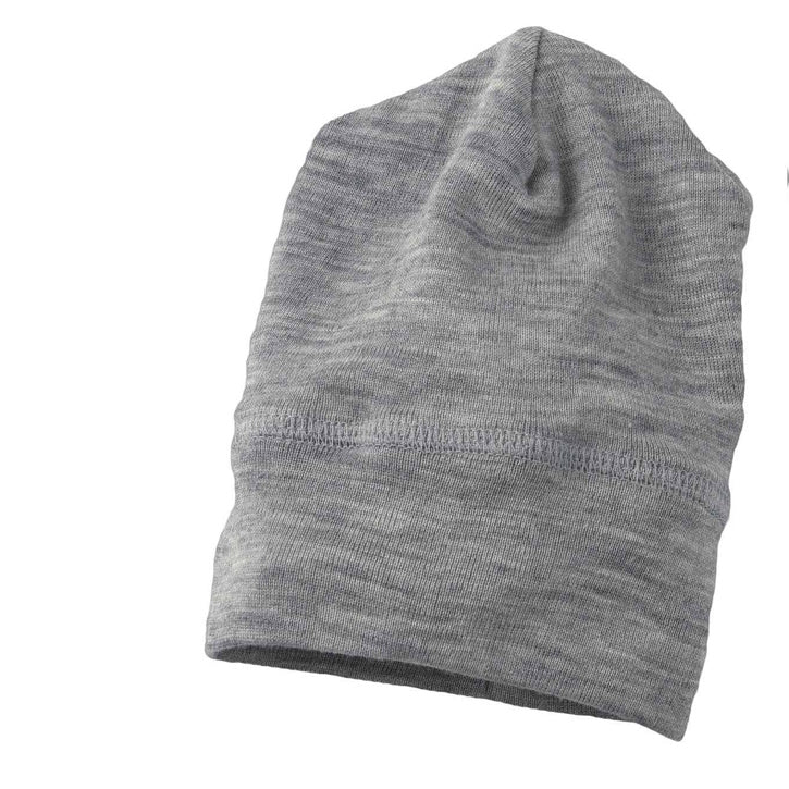 ENGEL Organic Silk & Merino Baby Hat - Light Grey Mélange