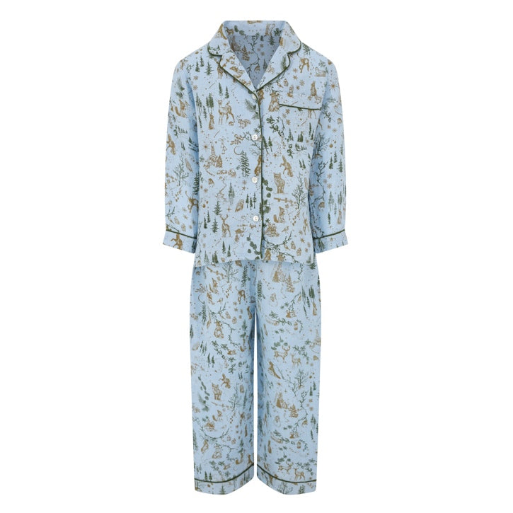 Melo + Marl - Polar Blue Winter Pyjama