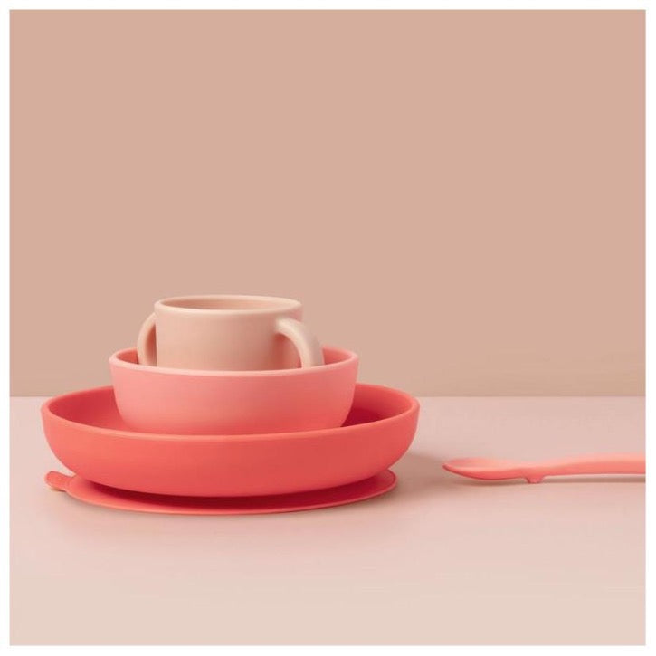 EKOBO Silicone Baby Meal Set - Coral