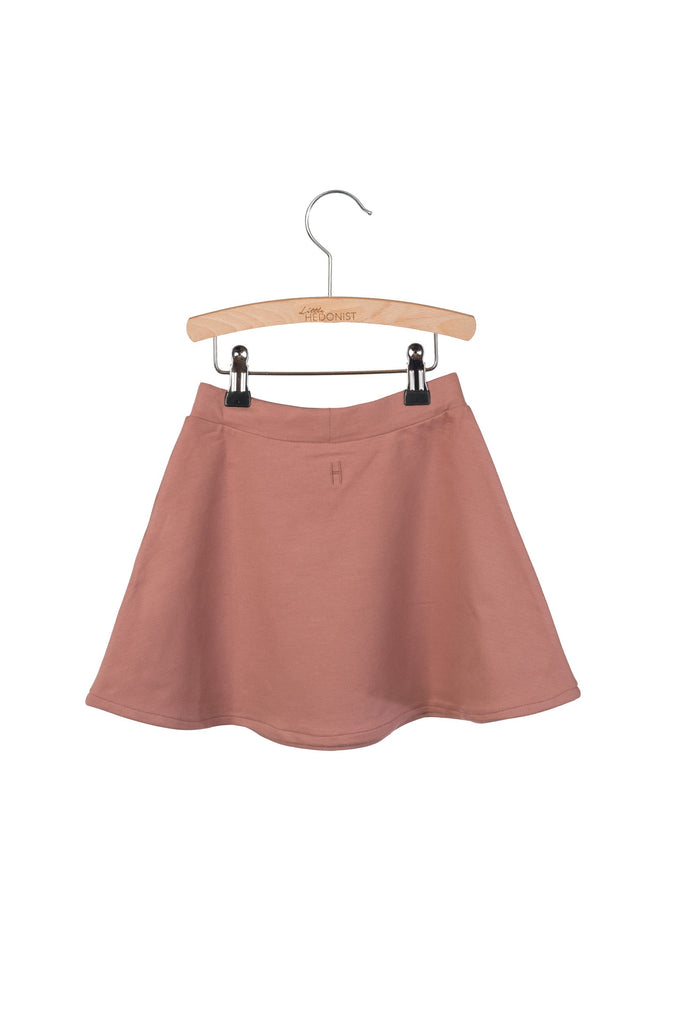 Little Hedonist Mesa Pleated Skirt - Burlwood