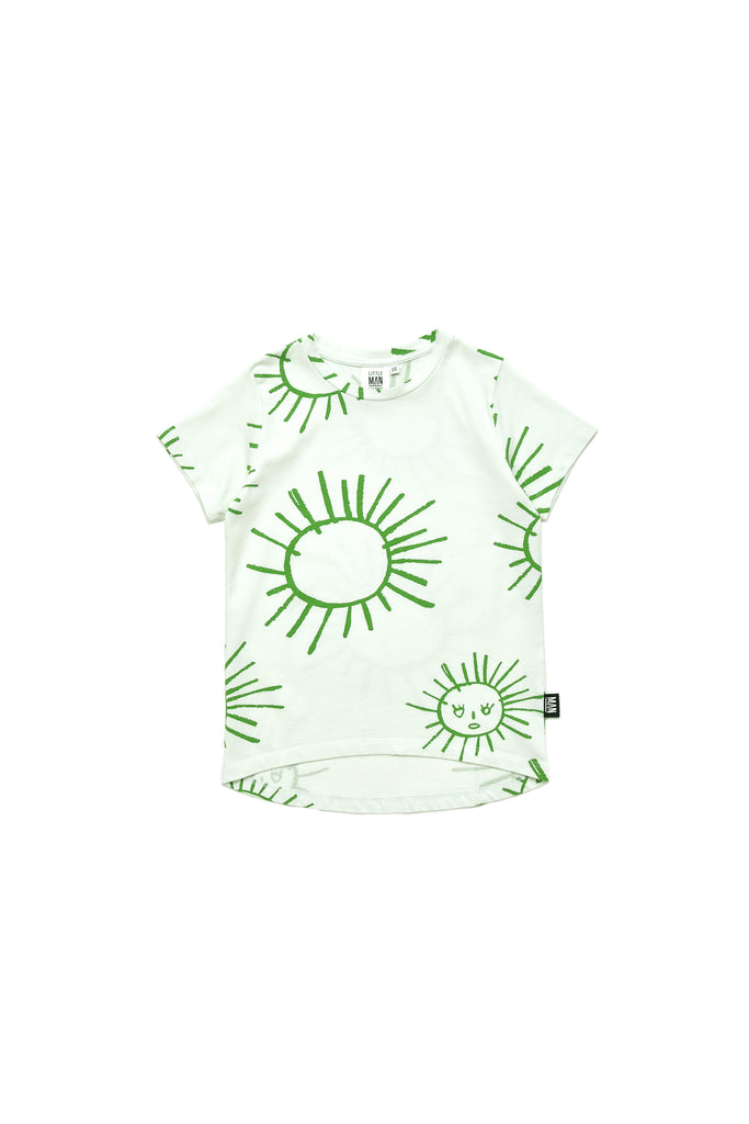 Little Man Happy Green Sun T-Shirt