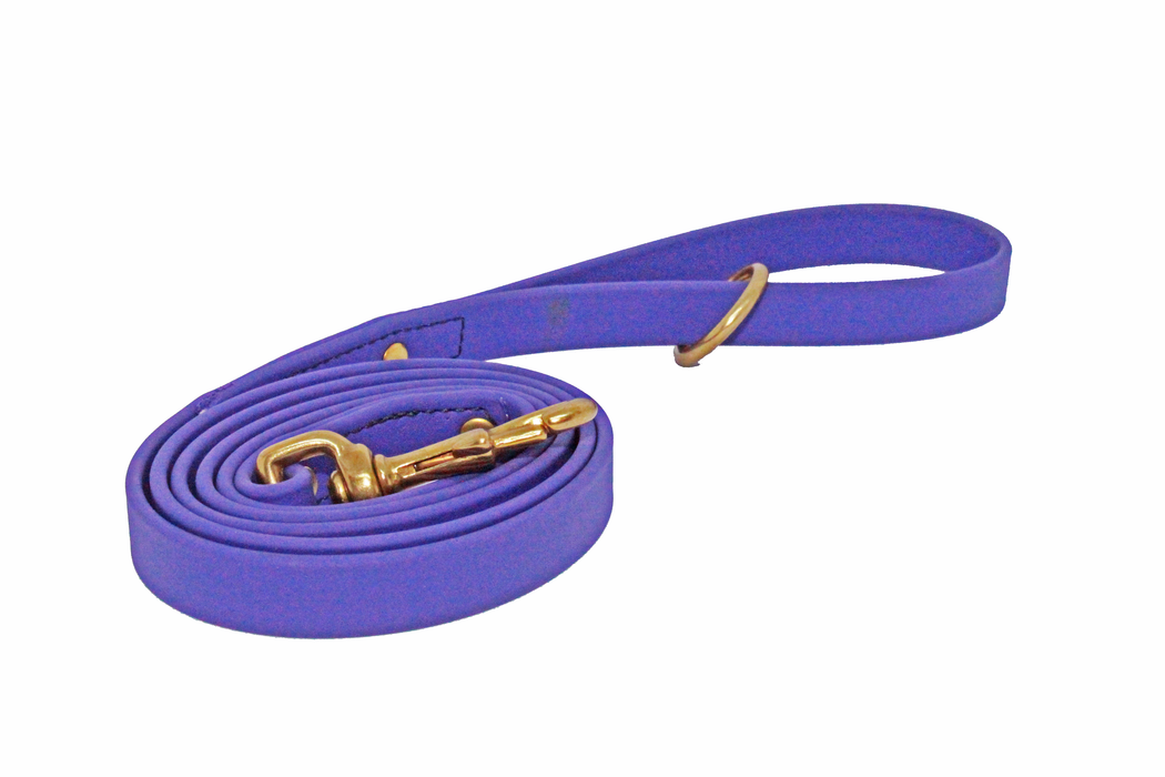 "BIOTHANE  19 OR 13mm x 2.5 Meters BLACK NEXGEN Dog Lead ""BRASS"""