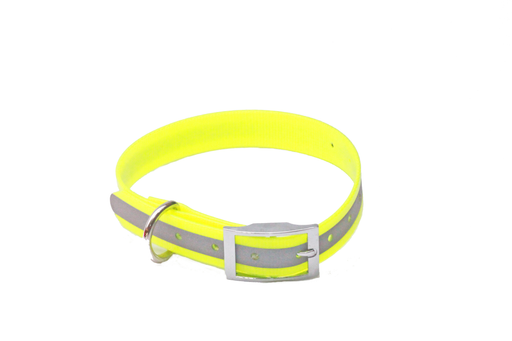 BIOTHANE 25mm x 600mm  YELLOW REFLECTIVE NEXGEN COLLAR