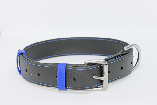 40MM X 750MM BLACK BETA COLLAR With BLUE BORDER.