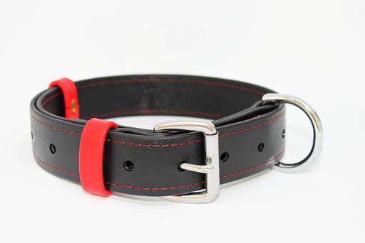40MM X 750MM BLACK BETA COLLAR (RED BORDER)