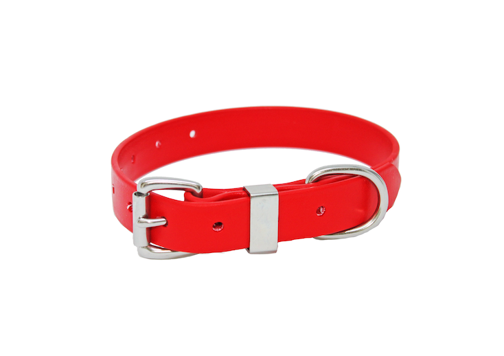 25MM X 600MM RED COLLAR, STAINLESS STEEL or BRASS