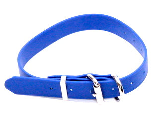 BIOTHANE 13MM X 350MM BLUE LEATHER LOOK COLLAR