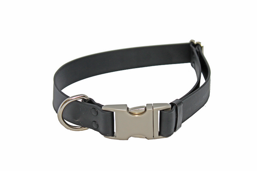 Black Adjustable Biothane Collar