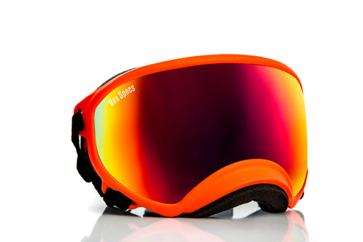 REX SPECS, Orange, Red Revo lens