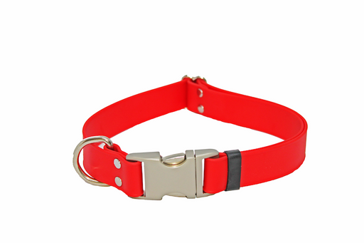 Red Adjustable Biothane Collar
