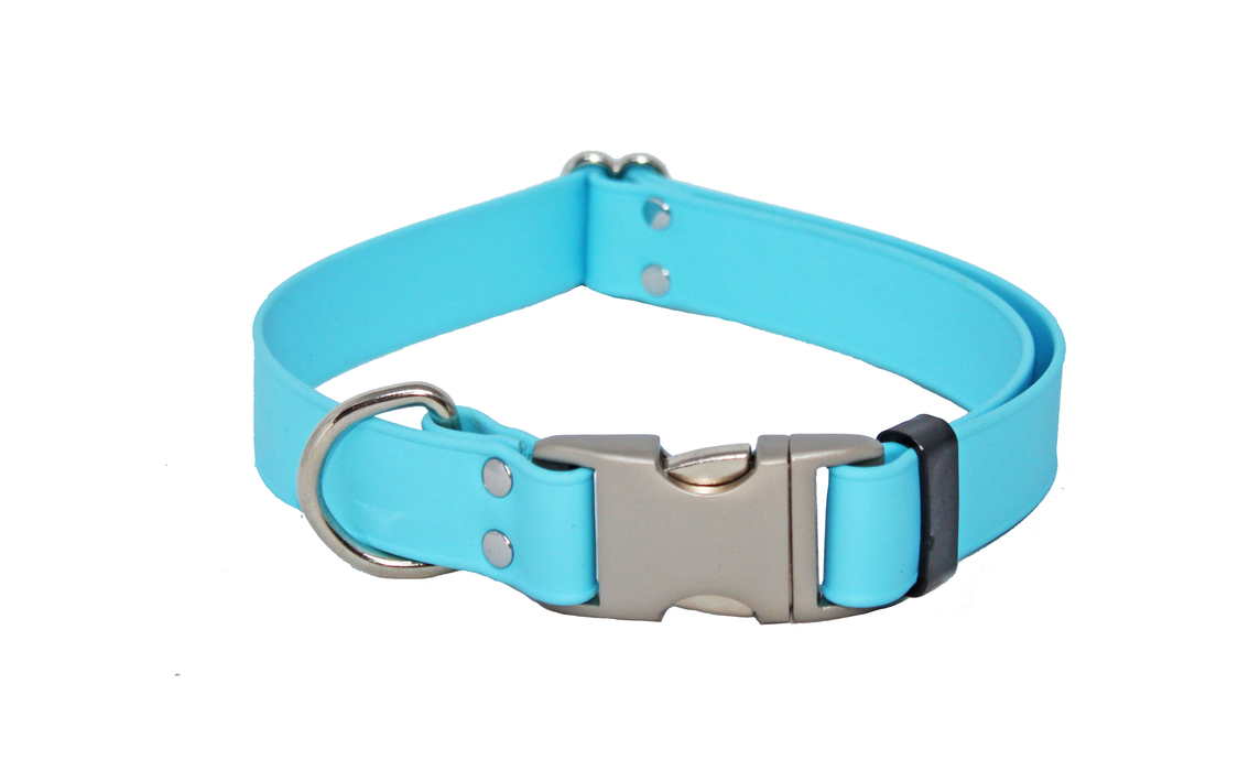 Light Blue Adjustable Biothane Collar