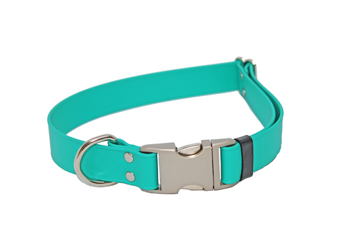 Teal Adjustable Biothane Collar
