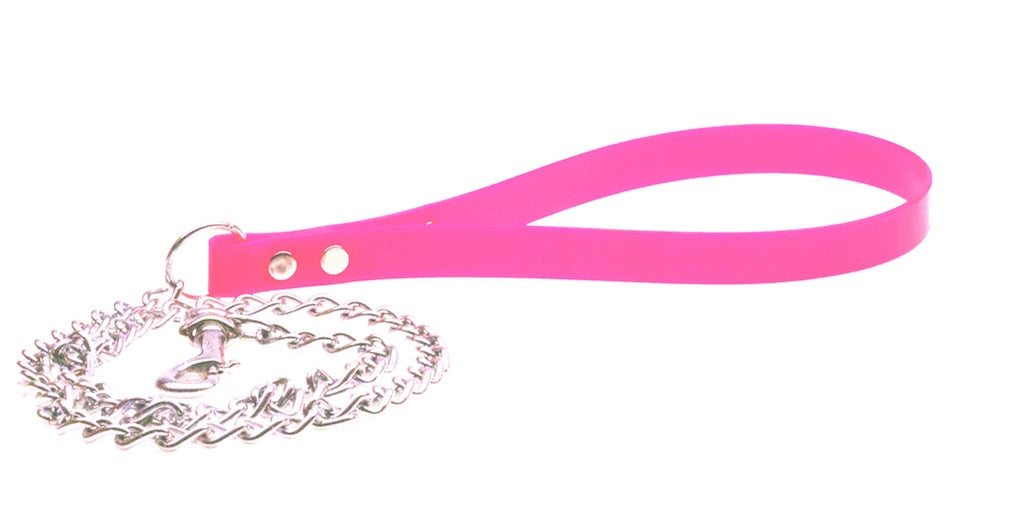 MEDIUM WEIGHT CHAIN LEAD WITH DURABLE  BIOTHANE HANDLE