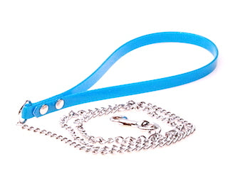 LIGHT WEIGHT CHAIN LEAD WITH DURABLE  BIOTHANE HANDLE