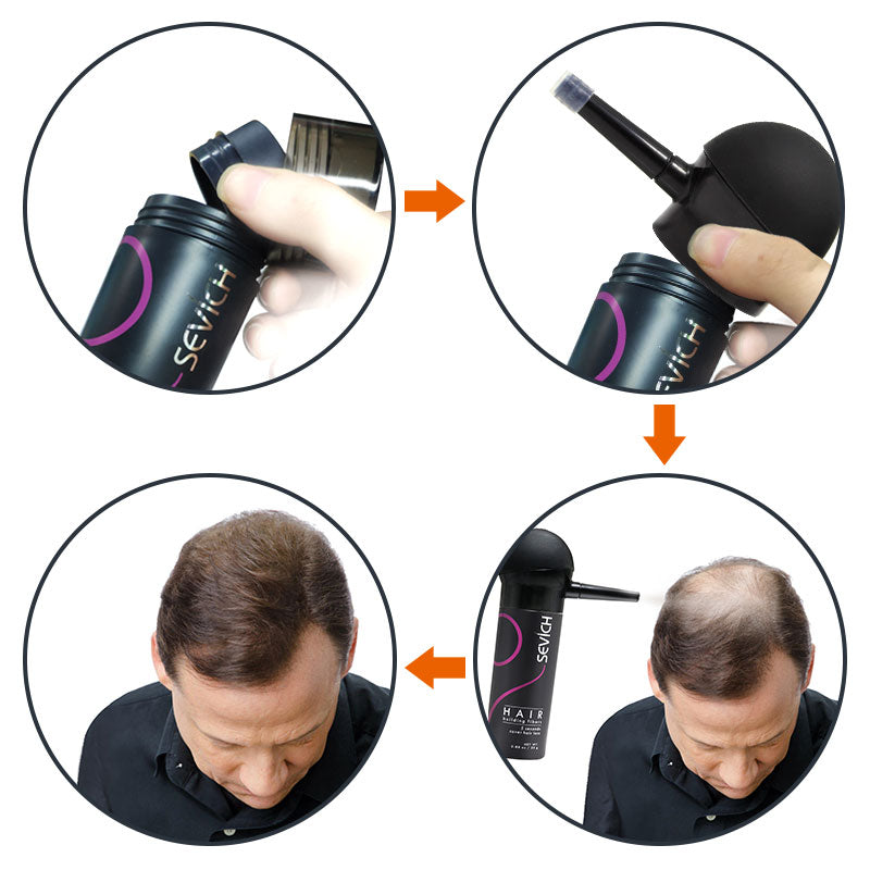 Hair Loss Keratin Fibers-Kit 4 pcs - allureshops.com