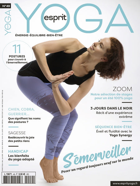 Esprit yoga magazine couverture mai juin presse yogis on roadtrip