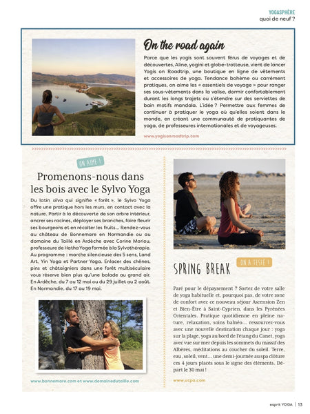 Esprit yoga magazine couverture yogis on roadtrip