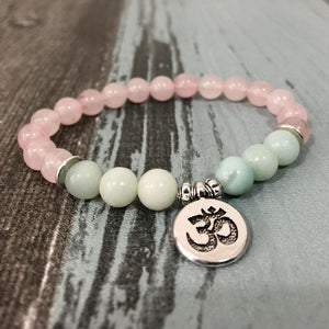 Bracelet woman natural stone jewelry pendant-Yogisonroadtrip-OM Bracelet-Yogis on Roadtrip