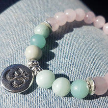 bracelet quartz rose amazonite pierre pour energie positive