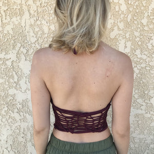 bare back yoga tee