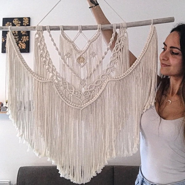 grand macrame fait main