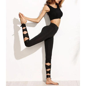 "Yoga Leggings ""the dancer"" -Yogis on Roadtrip-Black-S-Yogis on Roadtrip"