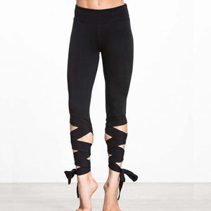 "Yoga Leggings ""the dancer"" -Yogis on Roadtrip-Black-L-Yogis on Roadtrip"