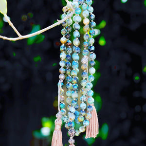 necklace mala turquoise african product handmade france