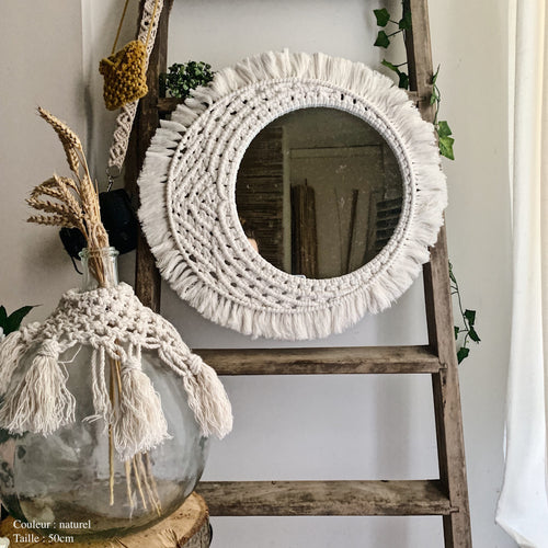 Moon macrame mirror (handcrafted)