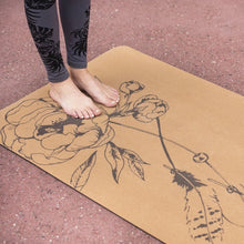 Feather Flower Cork Yoga Mat