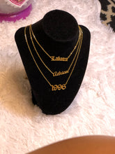 "Load image into Gallery viewer, ""Rugrat Style"" Custom Name Necklace"