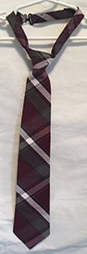 Youth Plaid Tie