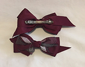 Plaid Bow - French Clip