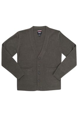 Grey Cardigan w/Logo