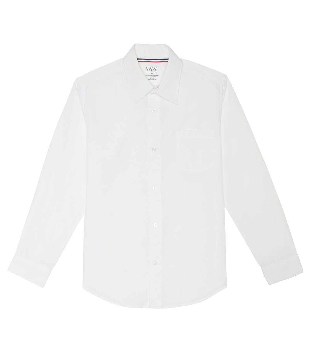SAMPLE Boys White Long Sleeve Shirts NO logo