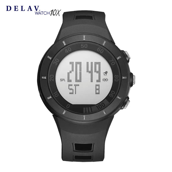 Reloj Digital Negro Deportivo 100% Waterproof Diseño Nautico DELAV. Watch 10X.