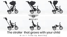 Load image into Gallery viewer, EX TANGS DISPLAY ONYX BLACK BENTLEY 6 IN 1 STROLLER TRIKE