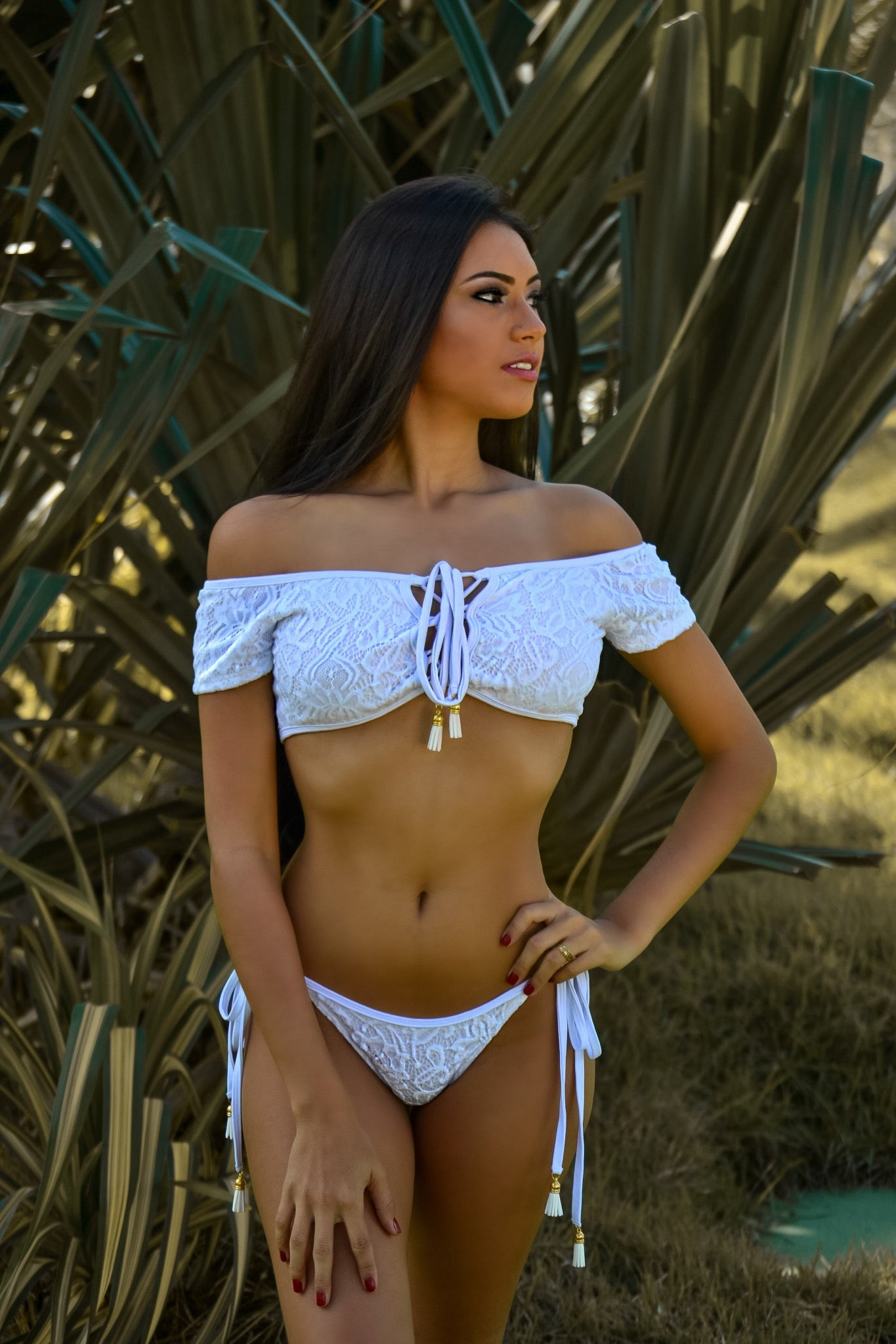 Coco - Off Shoulder / Ripple Bikini Set