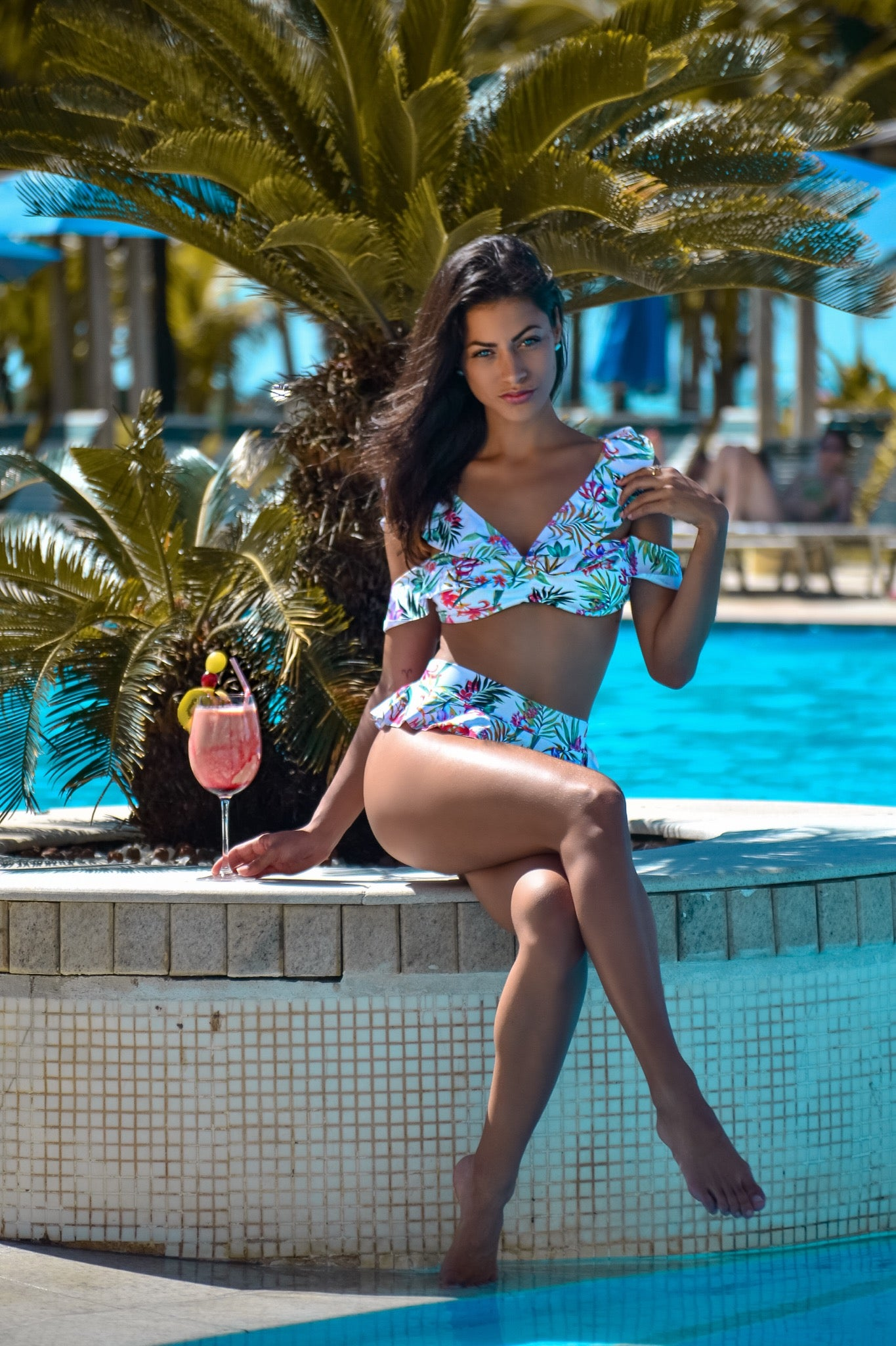 Tropicana - Ruffle High Waist Swimsuit Set
