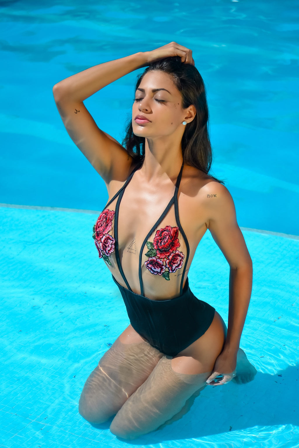 Eve - Embroidered One Piece Swimsuit