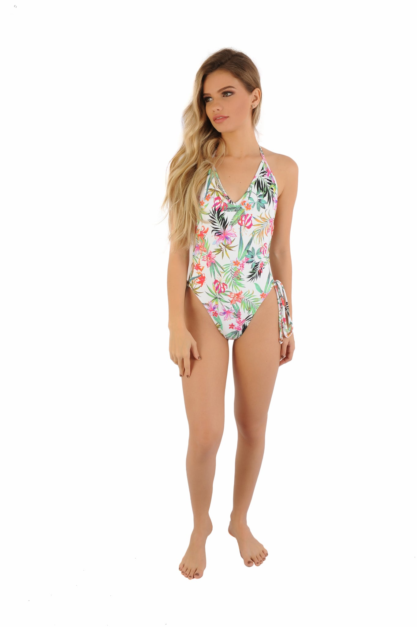 Tropicana - Lace Up One Piece Swimsuit