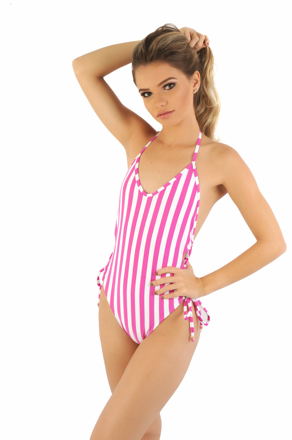 Cali - Lace Up One Piece Swimsuit