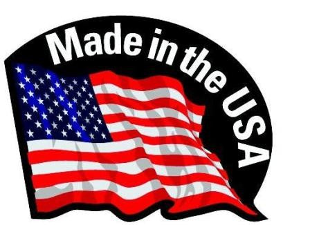 Made in the USA image with US flag.