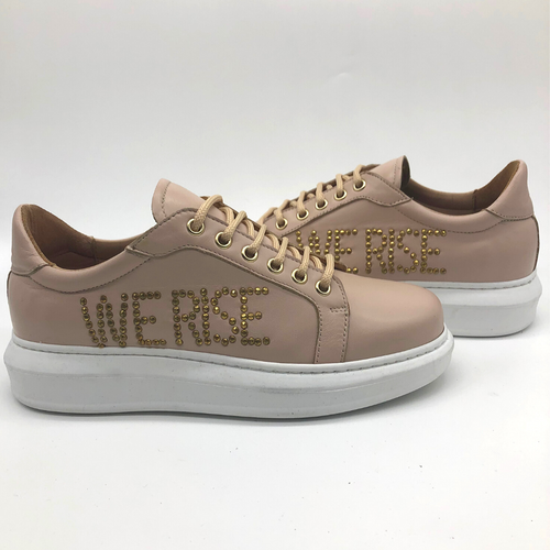 Canvass sneaker - Blush - WE RISE
