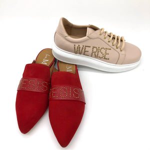 Walk With Us Slide - Tomato Leather - Resist